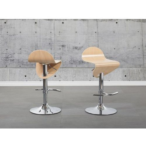 Hoker jasny brąz - hoker barowy - krzesło barowe - liverpool marki Beliani