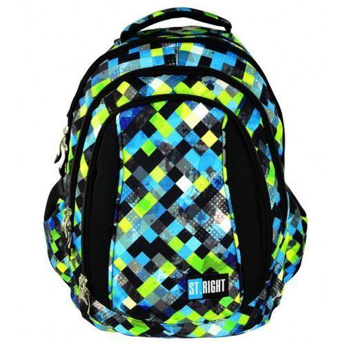 Plecak młodzieżowy pixelmania green bp-04 marki St.-majewski