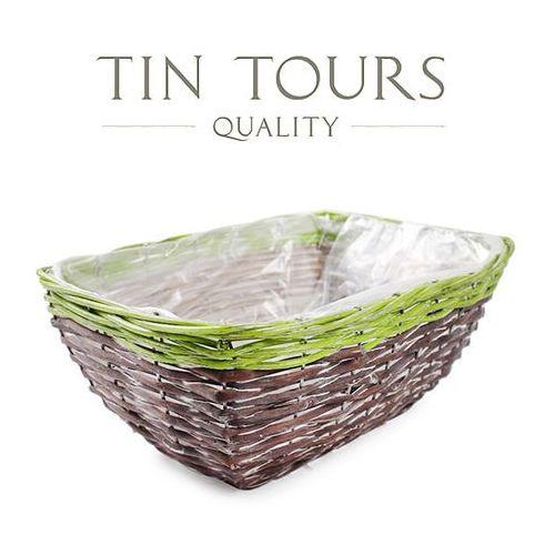 Tin tours sp.z o.o. Prostokątny koszyk do obsadzania kwiatami 31x23x13 cm