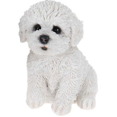 Dekoracyjna figurka psa z poliresingu, figurka szczeniaka o bardzo uroczym i realistycznym wyglądzie