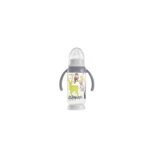 Butelka antykolkowa z uchwytem bunny grey (240ml) marki Beaba