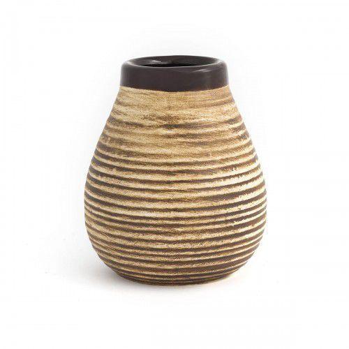 Matero ceramiczne calabaza brąz w prążki - marki Intenson
