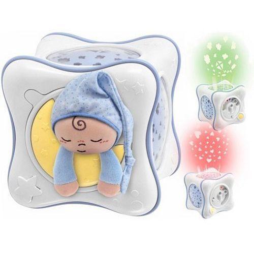 Chicco tęczowa kostka 3w1: lampka, pozytywka, projektor, niebieska (8059147059862)