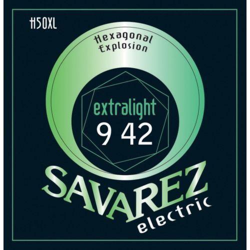 blues (676577) struny do gitary elektrycznej hexagonal explosion nickel blues.011-.049 marki Savarez