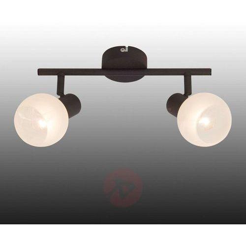 Brilliant Lampa punktowa 12913/20 e14, (dxs) 30.5 cm x 17 cm, brązowy, biały