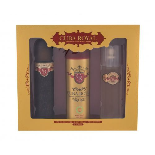 Cuba Royal zestaw Edt 100 ml + Dezodorant 200 ml + Woda po goleniu 100 ml dla mężczyzn