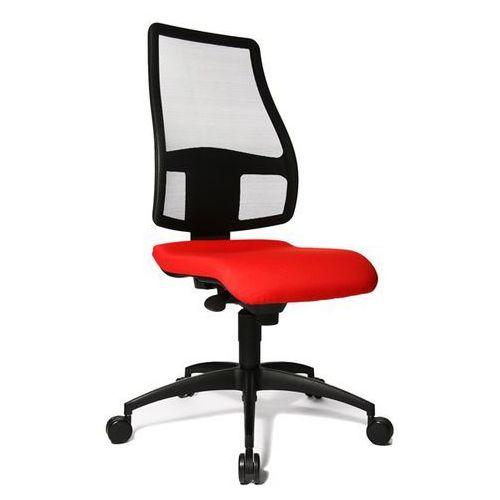 Topstar Krzesło obrotowe z siedziskiem nieckowym, wys. oparcia 680 mm, oparcie z przepus