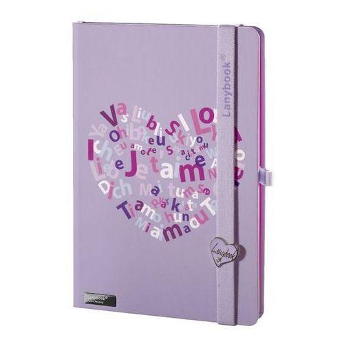 Lediberg Notes a5 lanybook lovestruck w linie fioletowy (8057432197749)