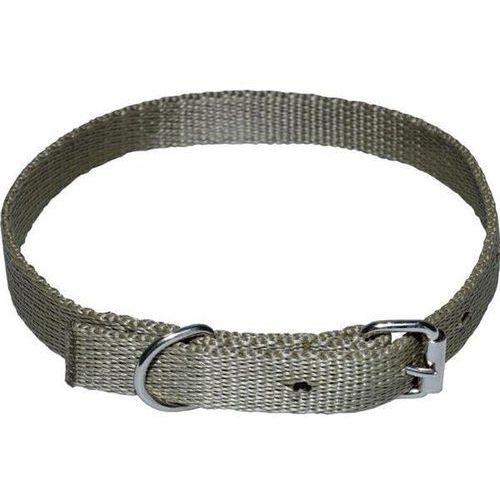 CHABA Mocna taśmowa obroża dla psa gładka - Obwód szyi 55cm-64 cm - 55cm-64cm \ Khaki (5905133627535)