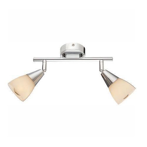 Lampa listwa oprawa sufitowa Globo Tadeus 2x40W E14 chrom, biała 54919-2, 54919-2