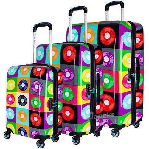 urbe zestaw walizek na 4 kółkach / komplet / walizki twarde / glam lps - wielokolorowy marki Bg berlin