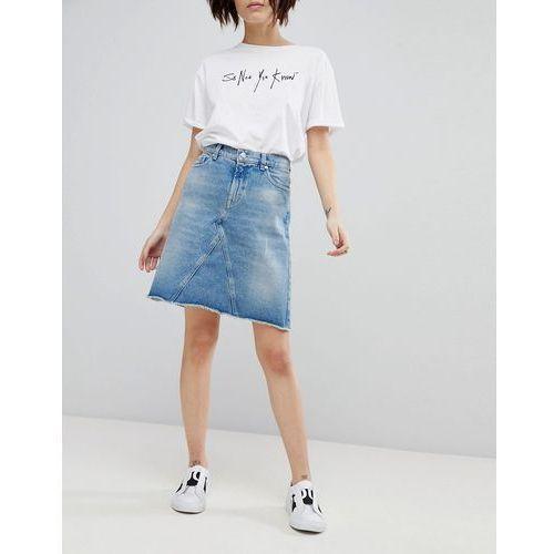 Hugo 90's denim mini skirt - blue