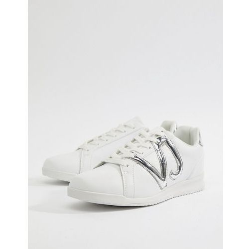 Versace Jeans Logo Runner Trainers In White - White