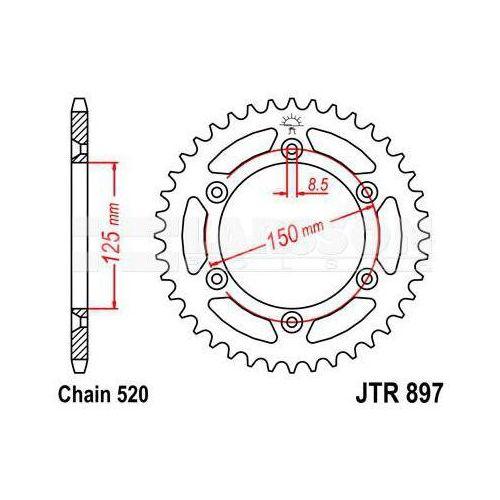 Jt sprockets Zębatka tylna stalowa jt 897-38, 38z, rozmiar 520 2301161 ktm exc-f 250, husaberg fs 650