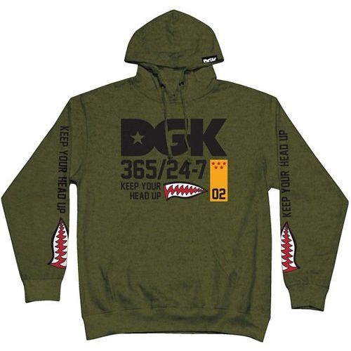 bluza DGK - Heads Up Hooded Fleece Army Heather (ARMY HEATHER) rozmiar: XL