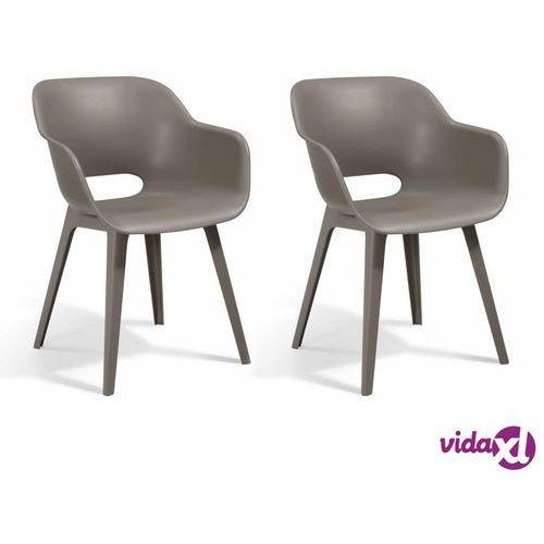 Allibert Krzesła ogrodowe Akola, 2 szt., cappuccino (8711245145389)