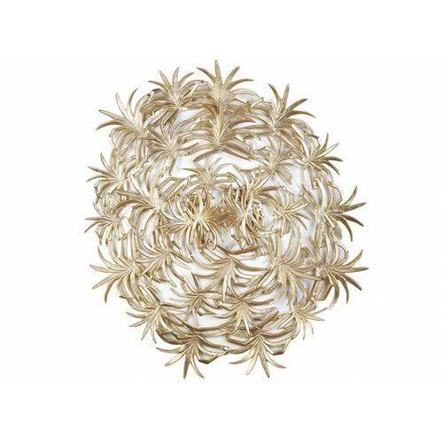 Vente-unique Dekoracja ścienna z metalu art déco - artemis - aluminium - 128x118x14cm - kolor złoty