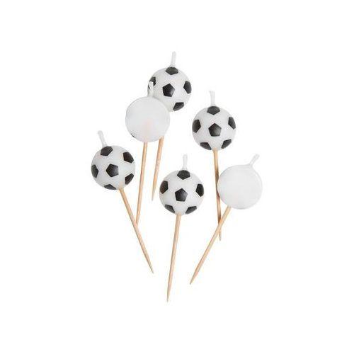 Świeczki pikery piłka nożna - 6 szt. marki Unique