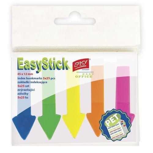 Easy stationery Karteczki samoprzylepne easy 837953 neonowe 5 kolorów (45 x 12 mm) (5901180379533)