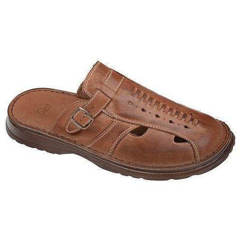 Klapki buty ŁUKBUT 965 Brązowe - Brązowy, kolor brązowy