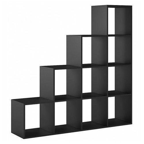 Regał schodkowy Maleo 9X - czarny, 810218