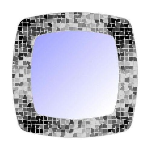 Lustro łazienkowe bez oświetlenia MOZAIKA 71 x 71 cm DUBIEL VITRUM, kolor biały