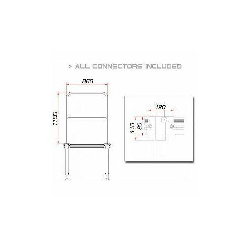 GUIL TMQ-01/440 Barierka do podestów scenicznych 88cm (Aluminium Version)