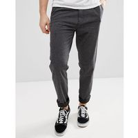 Esprit Loose Fit Smart Trousers In Brushed Cotton - Grey, szerokie