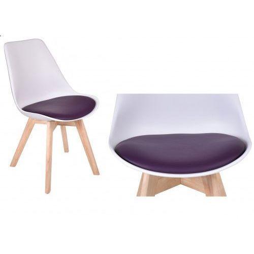 Krzesło Nantes - biało-fioletowy, kolor fioletowy