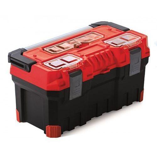 Duża Mocna Skrzynka Narzędziowa TITAN PLUS 22A Czerwona Prosperplast
