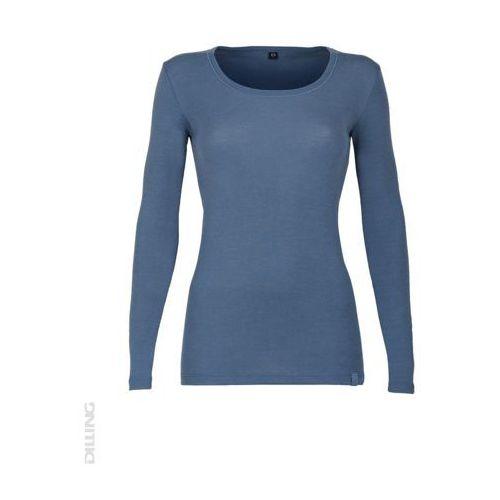 Dilling Koszulka damska z dł. rękawem z wełny merynosów 100%- : rozmiar - xxl, kolor - niebieski ciemny