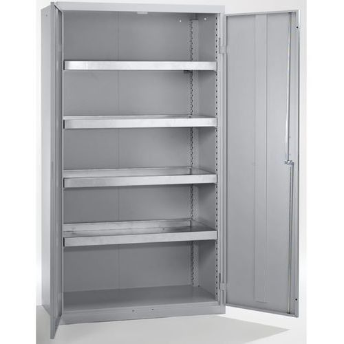 Szafa ekologiczna, drzwi zamknięte, wys. x szer. x głęb. 1800x1000x500 mm, 4 pół marki Stumpf-metall