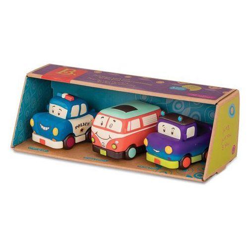 Trzy miękkie autka - wheeeels mini z busem bx1695z marki B. toys