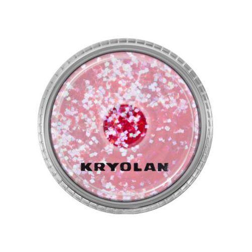 Kryolan POLYESTER GLIMMER COARSE (PASTEL RED) Gruby sypki brokat - PASTEL RED (2901)