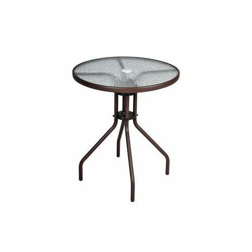 Stół ogrodowy ze szklaną płytą okrągły Bistro