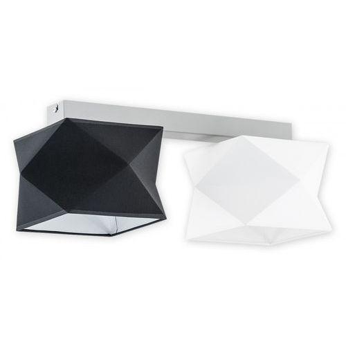 Lemir espero o2772 p2 sza + bia + cza plafon lampa sufitowa 2x60w e27 szary mat / biały / czarny