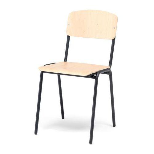 Aj Krzesło do stołówki clinton brzoza czarny