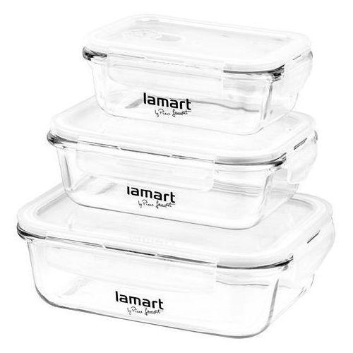 Lamart Zestaw szklanych pojemników na żywność, 3 szt. (LT6011) Darmowy odbiór w 20 miastach!