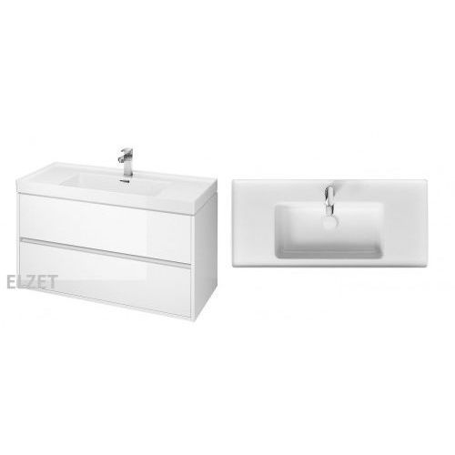CERSANIT szafka Crea biały połysk + umywalka Crea 100 S924-021+K114-018, S924-021.K114-018