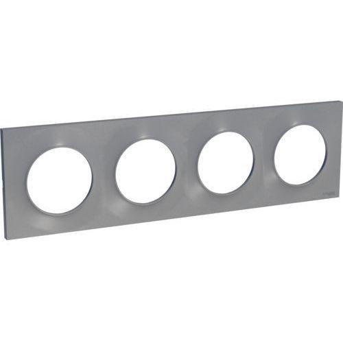 Ramka poczwórna Schneider Electric Odace aluminium (3606480545771)