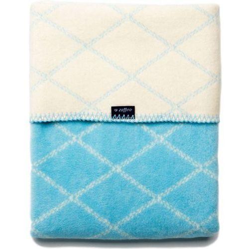 Womar Koc 100% bawełna 75X100 Krata niebieski/biały- wysyłamy do 18:30