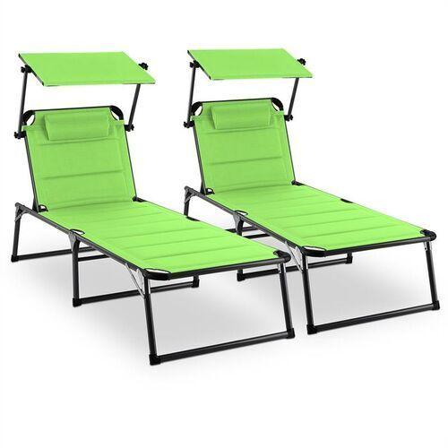Blumfeldt Amalfi Juicy Lime Leżak Zestaw 2-częściowy Stelaż z rur stalowych zielony (4260509678803)