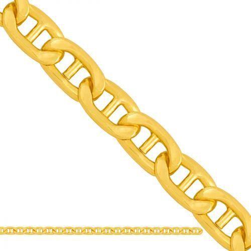 Złoty łańcuszek pełny gucci lp042
