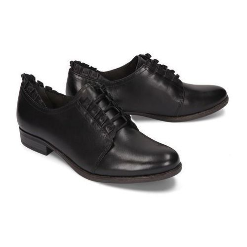 TAMARIS 23220-23 001 black, półbuty damskie - Czarny, kolor czarny