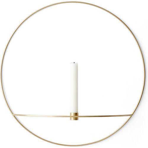 Menu Świecznik pov circle ścienny na świeczkę, l, mosiądz -