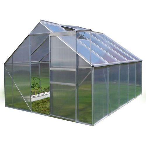 Szklarnia ogrodowa PLANTIFLEX 250x310cm - 7,75 m2 + fundament + panel 6mm