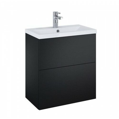 set szafka + umywalka kido 60 2s black matt 168099 marki Elita