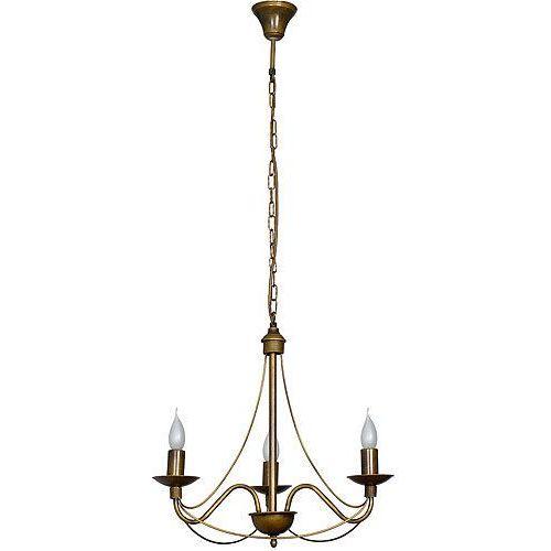 Lampa zwis żyrandol świecznikowy Aldex Róża I 3x40W E14 stare złoto 397E26 (5904798616342)
