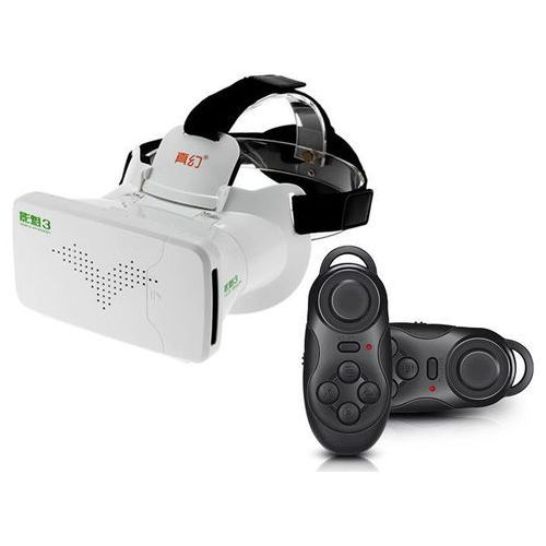 Okulary vr 3d ritech riem 3 iii virtual reality oculus cardboard + gamepad marki 4kom.pl