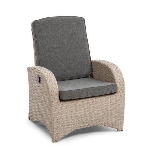 Blumfeldt Comfort Siesta fotel ogrodowy regulowane oparcie jasnoszary